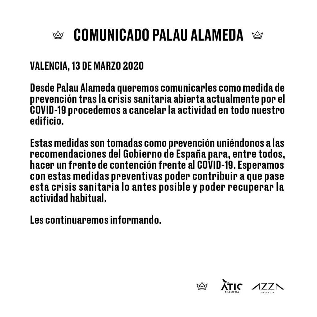 Comunicado Palau Alameda